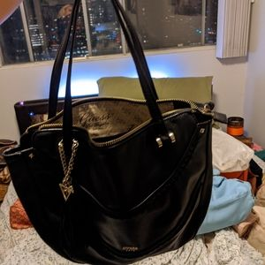 Black guess leather bag